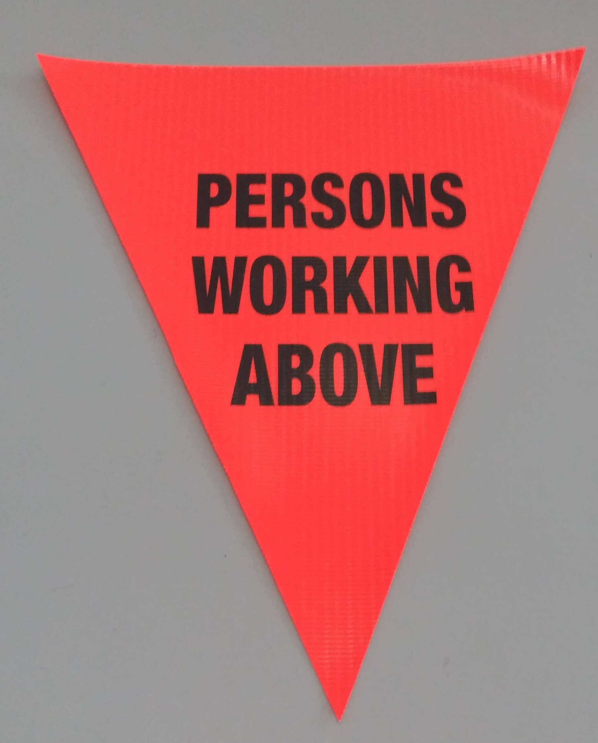 Persons Working Above (orange)