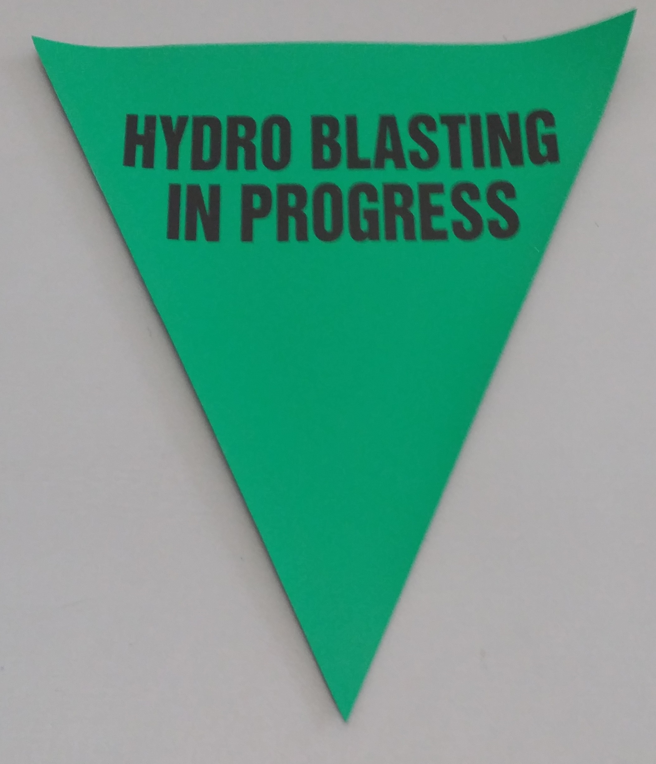 Hydro Blasting in Progress (green)