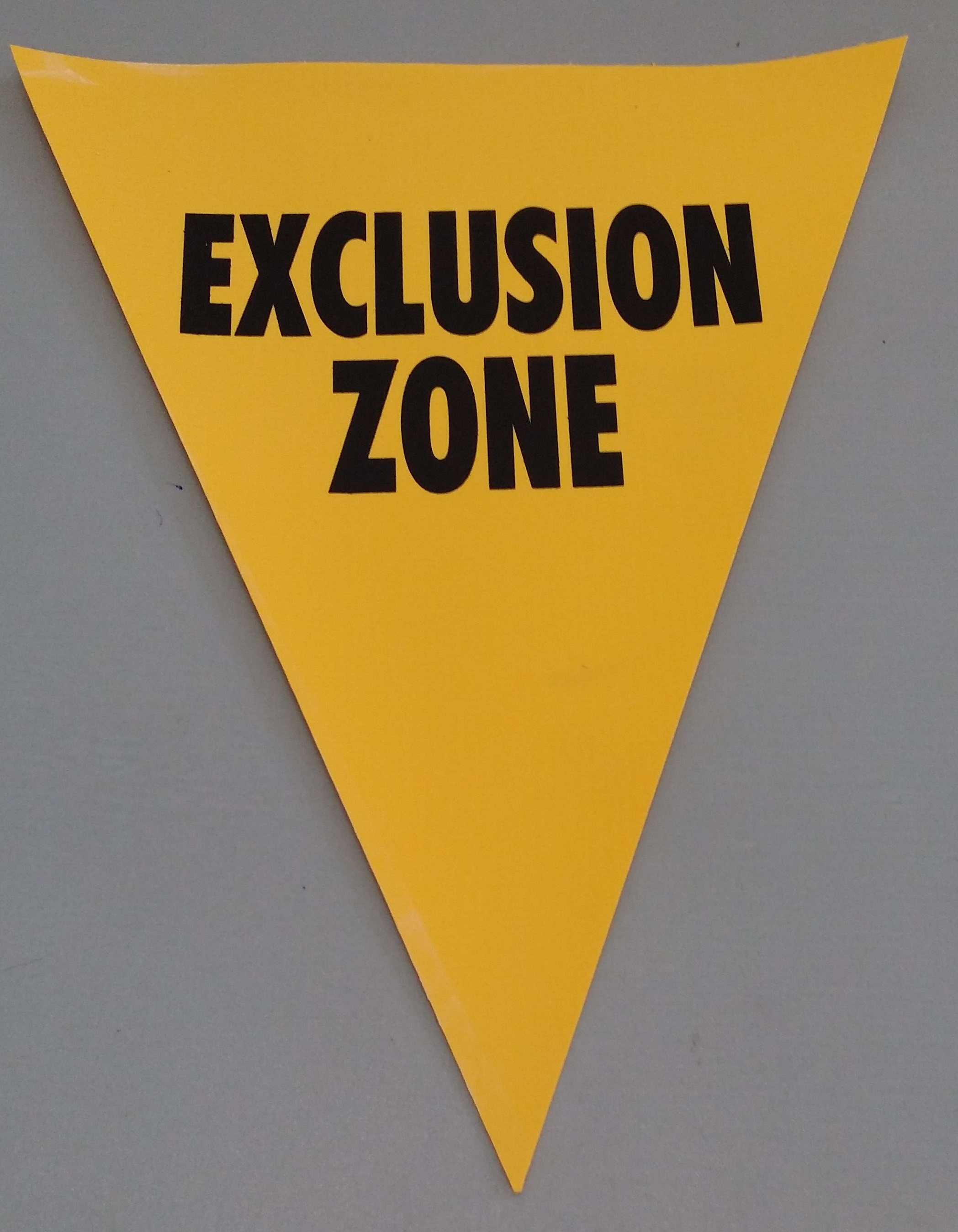 Exclusion Zone (yellow)