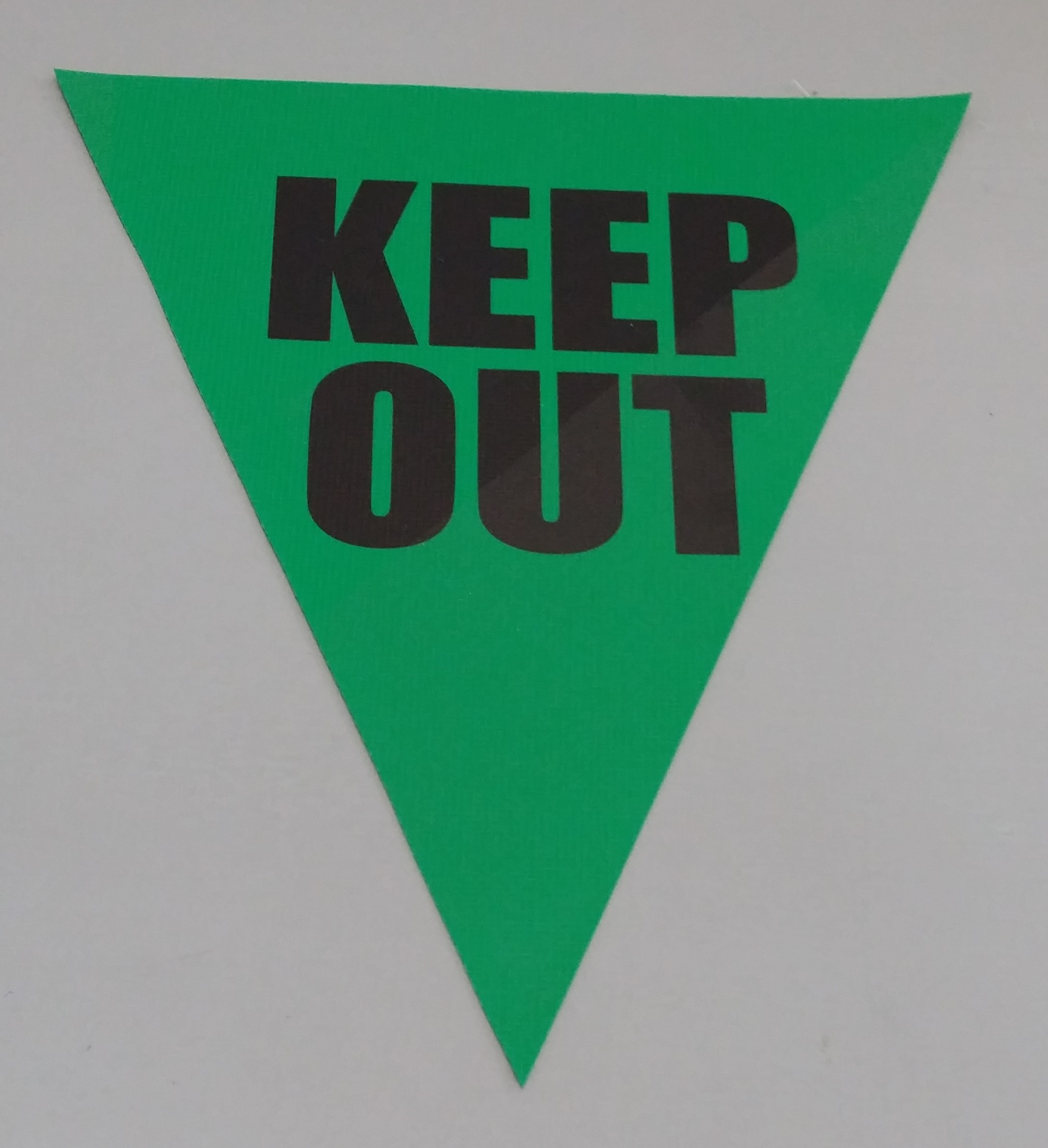 Keep Out (green)