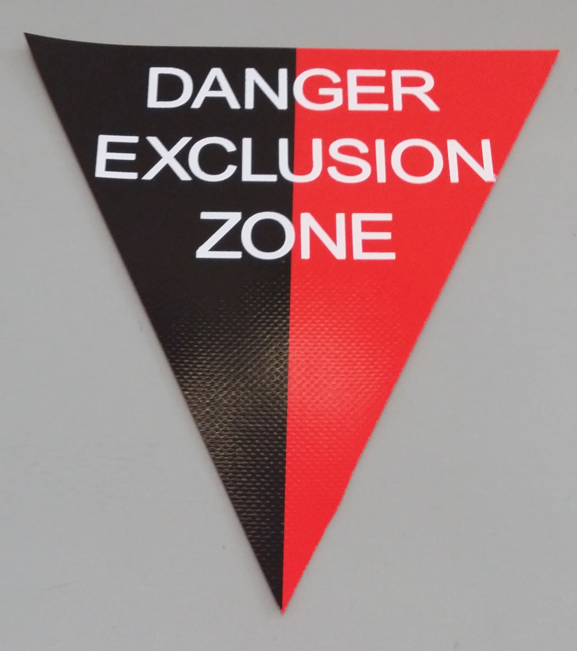 Danger Exclusion Zone (red/black with white print)