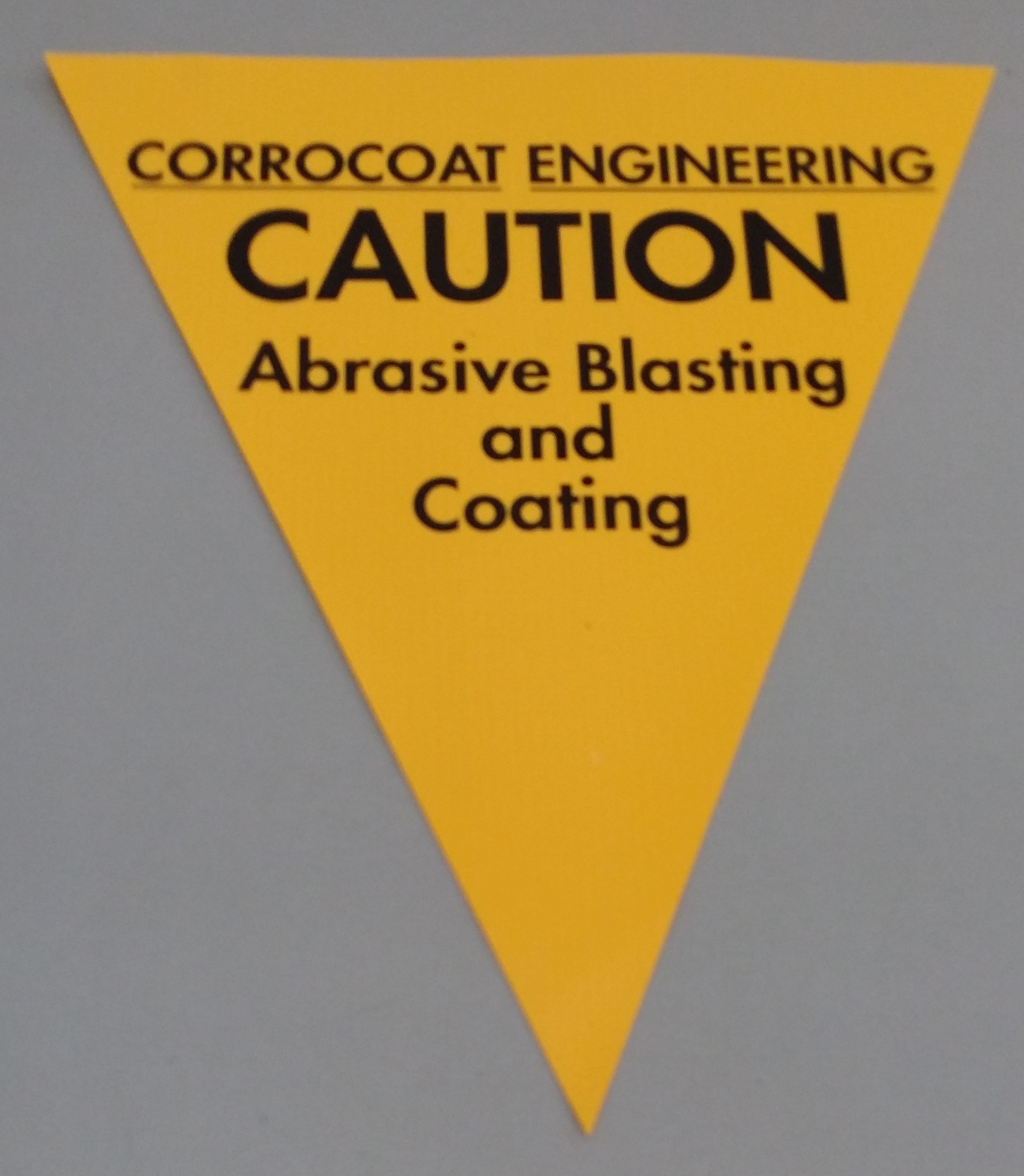 Corrocoat Engineering Caution (yellow)