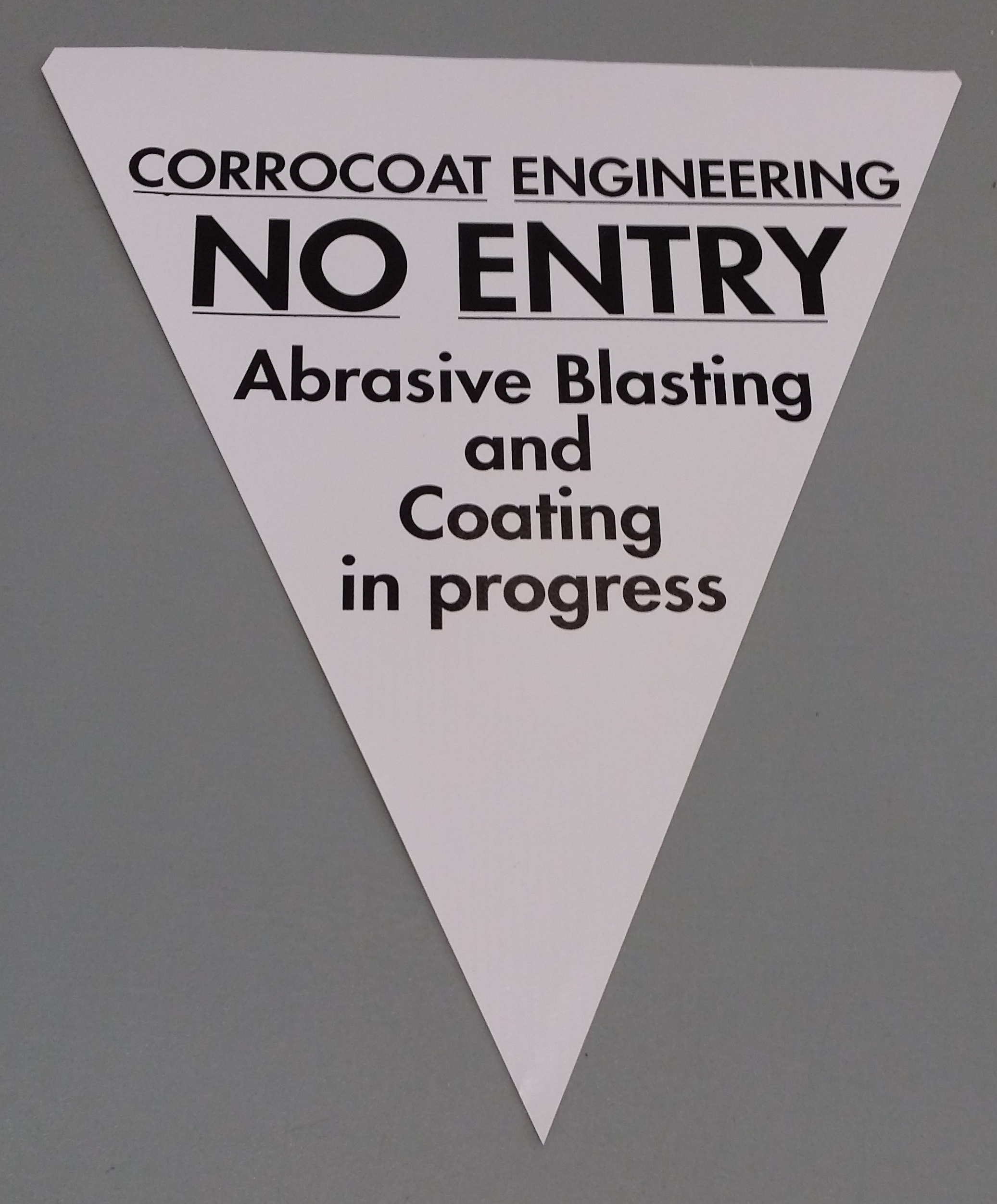 Corrocoat Engineering No Entry (white)