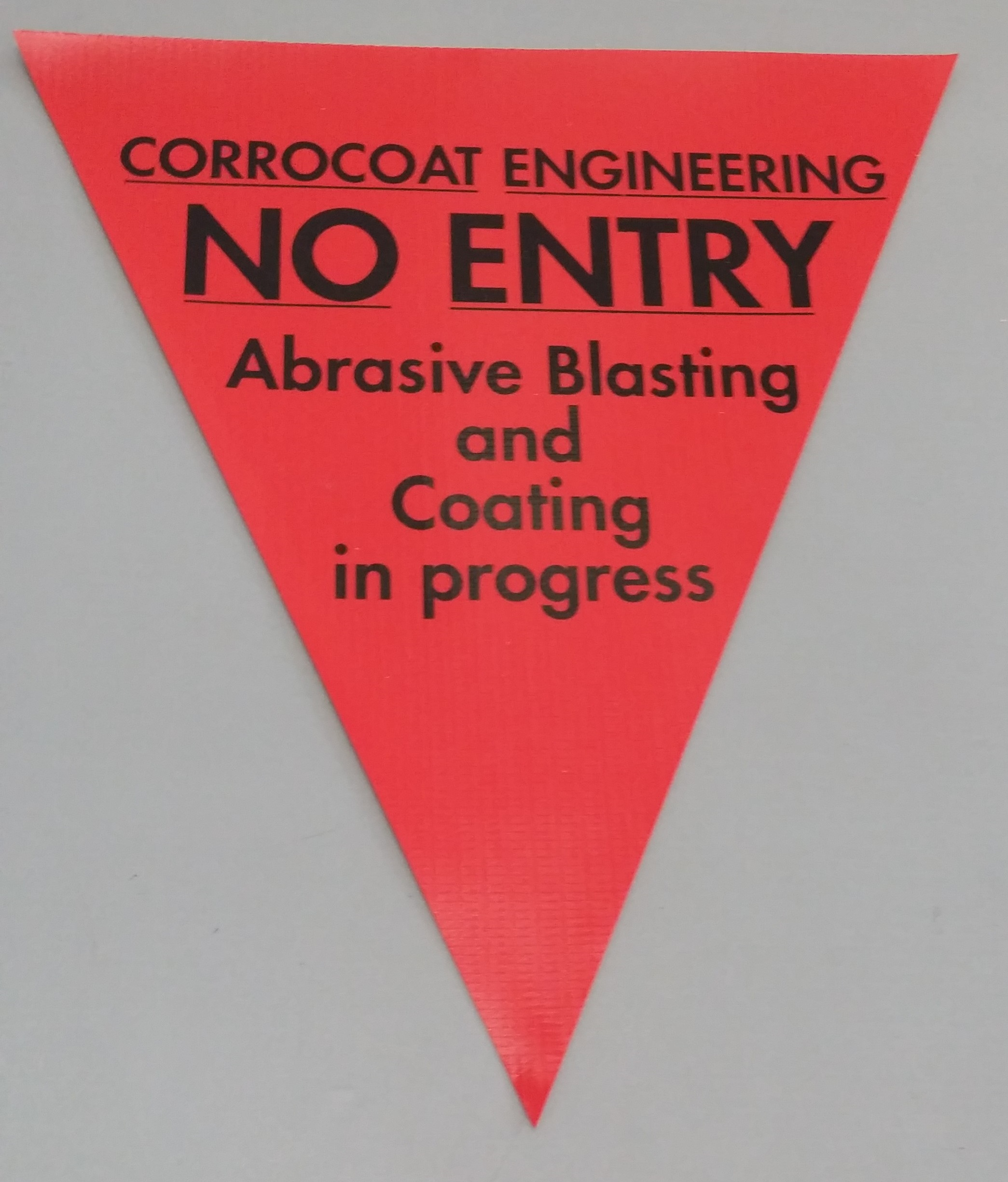 Corrocoat Engineering No Entry (red)
