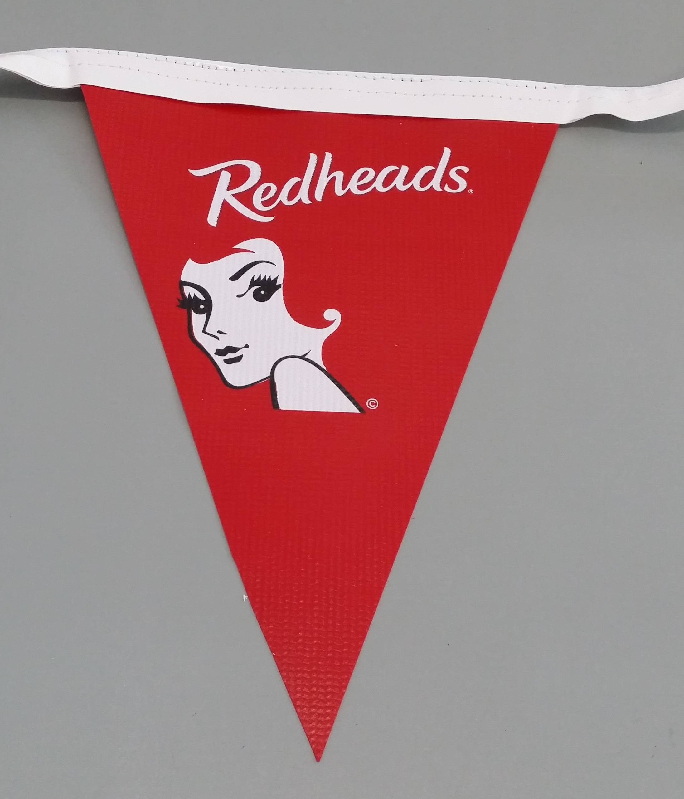 Jazz Style Bunting with Redheads Logo (red)