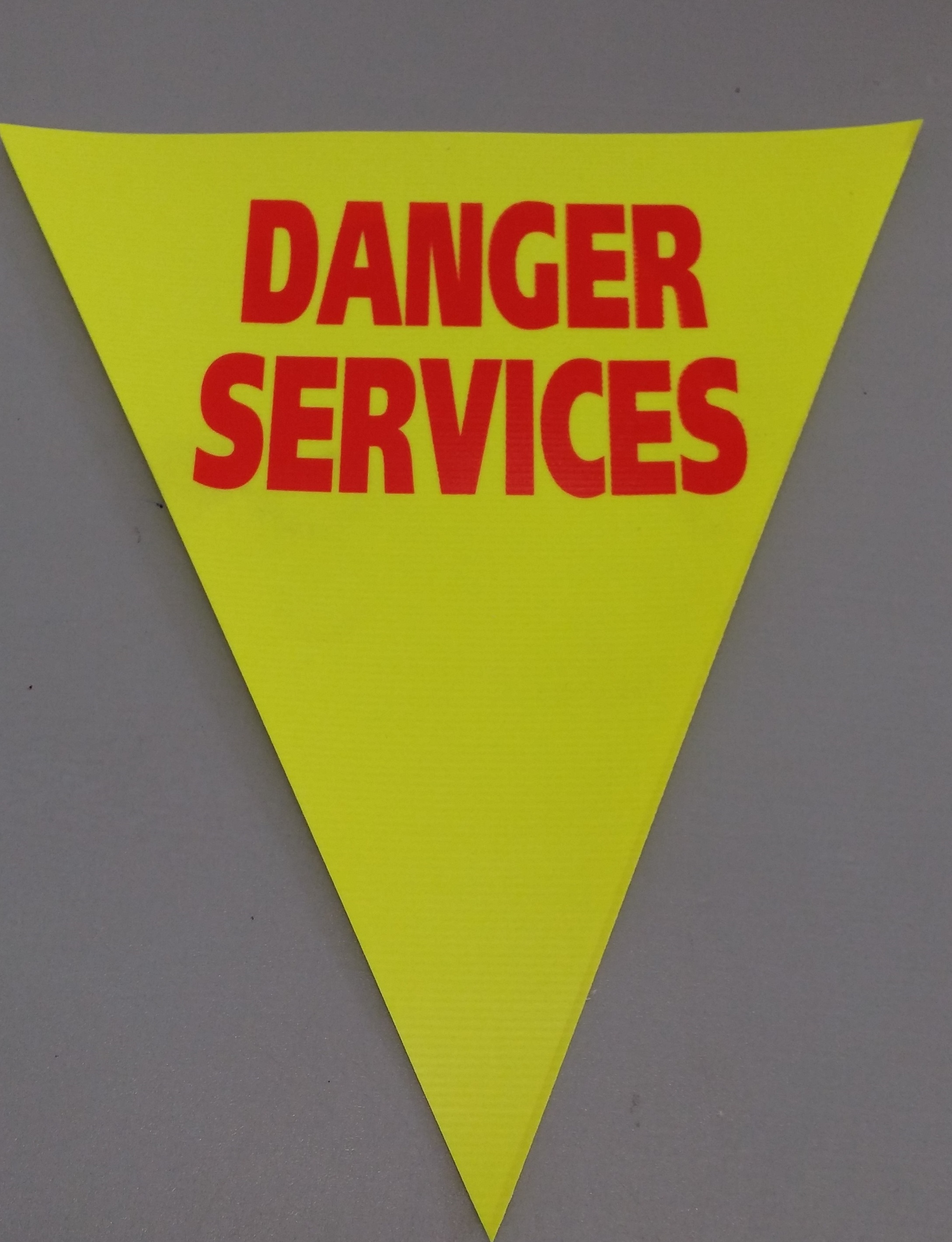 Danger Services (fluro yellow)