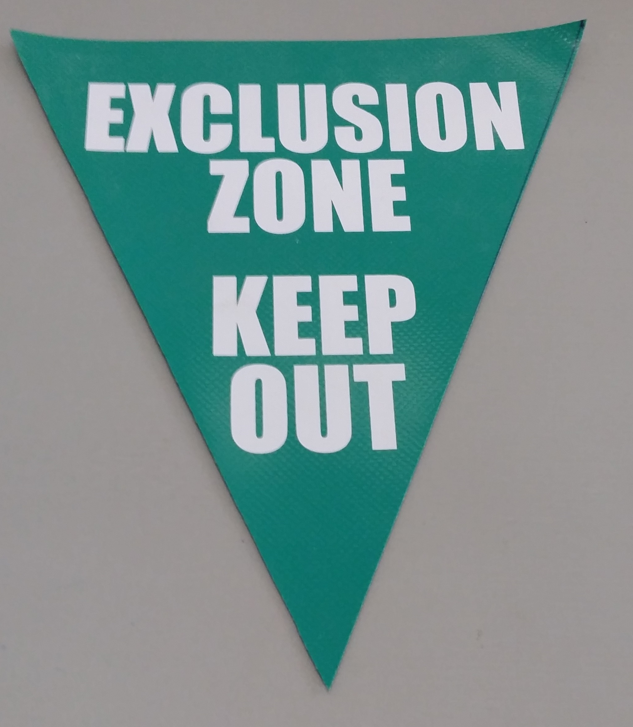 Exclusion Zone Keep Out (green with white print)