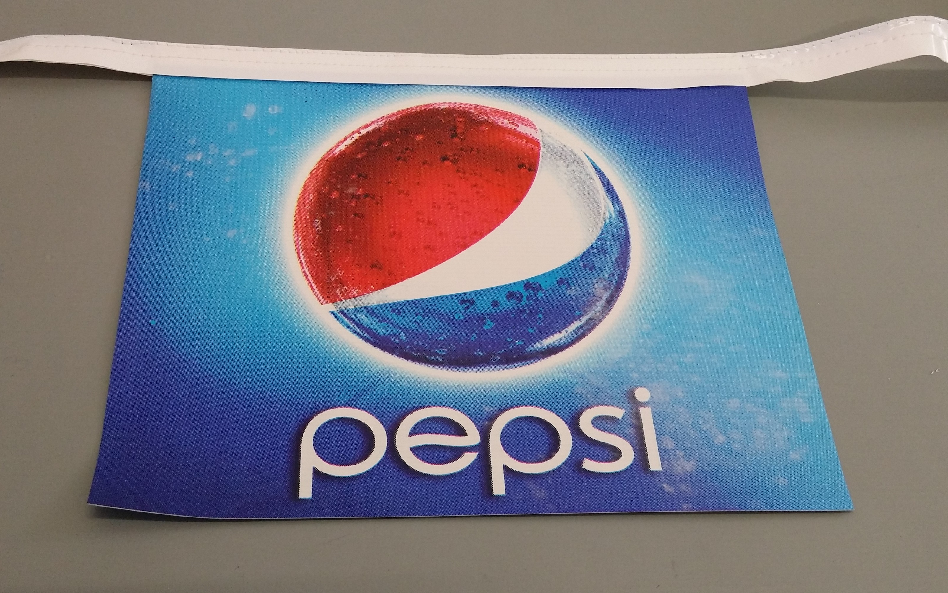 Custom Printed Bunting Pepsi logo (white rectangle)