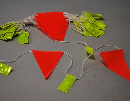 Day/Night Reflective Tab Safety Bunting