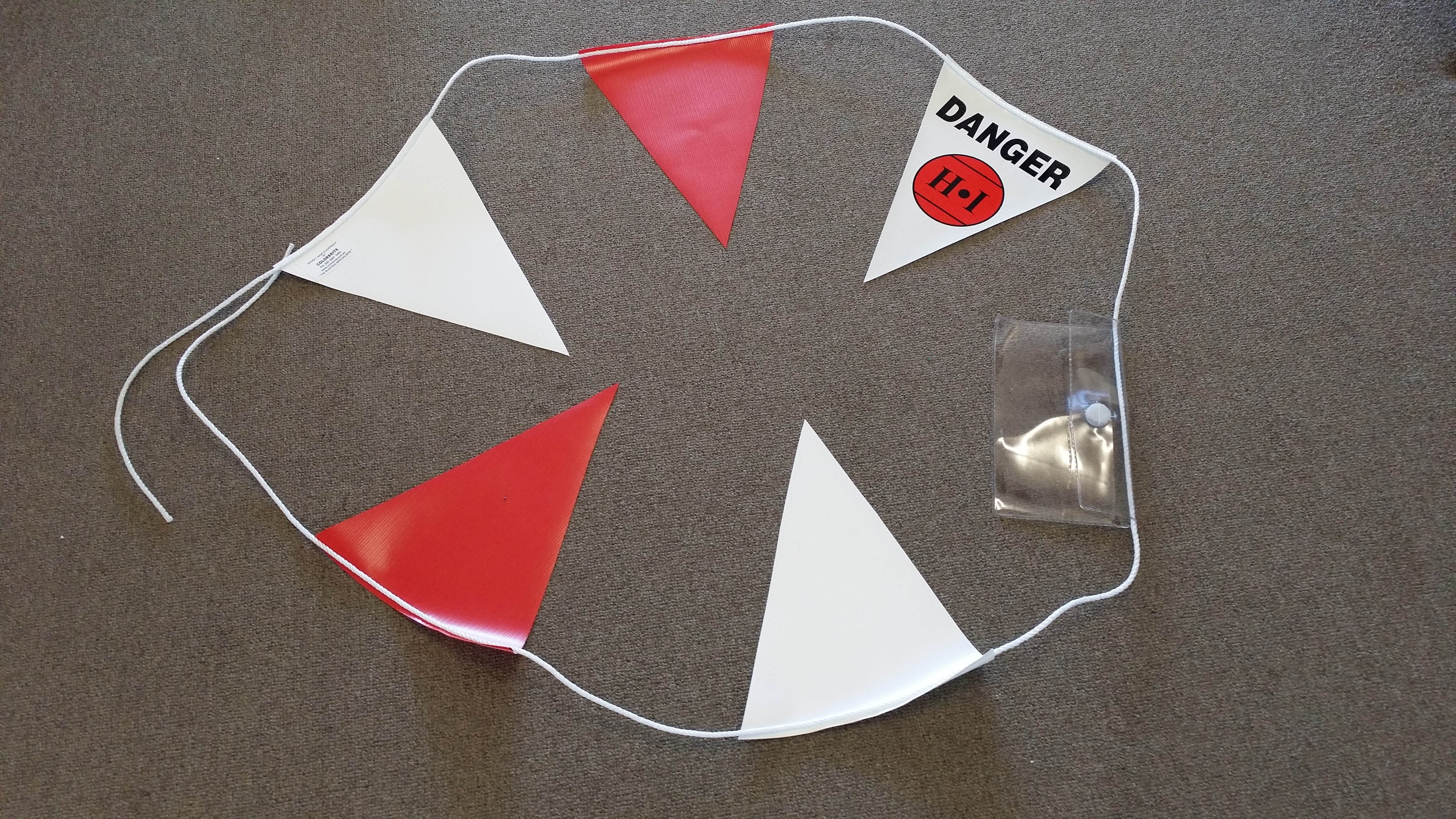 HI Logo Custom Bunting with PVC Pouch