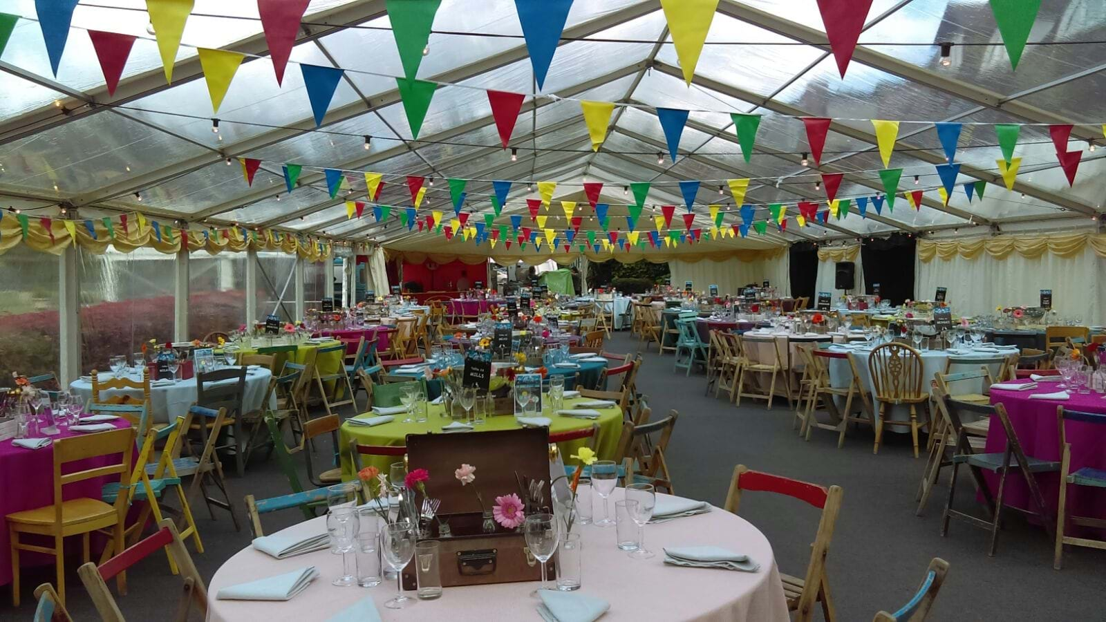 Party celebration bunting. Make your event colourful and exciting with Jazz