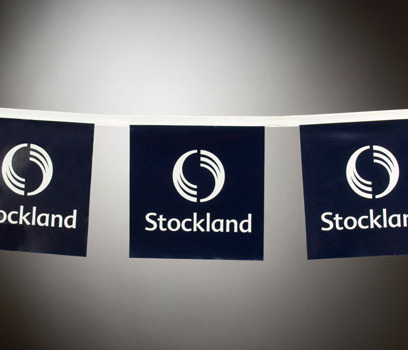 Stockland white rectangular bunting