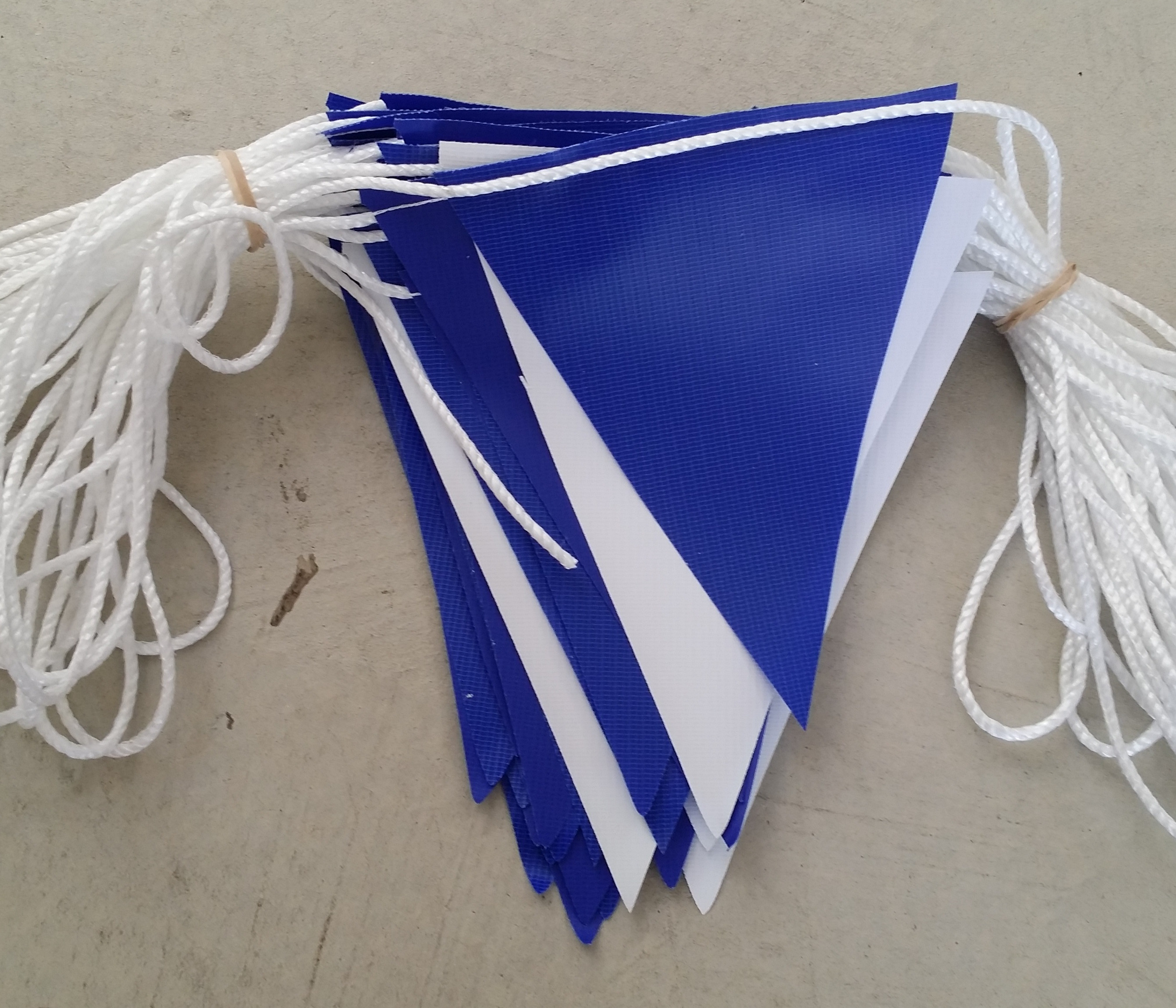 Reflex Blue and White alternating Safety Bunting