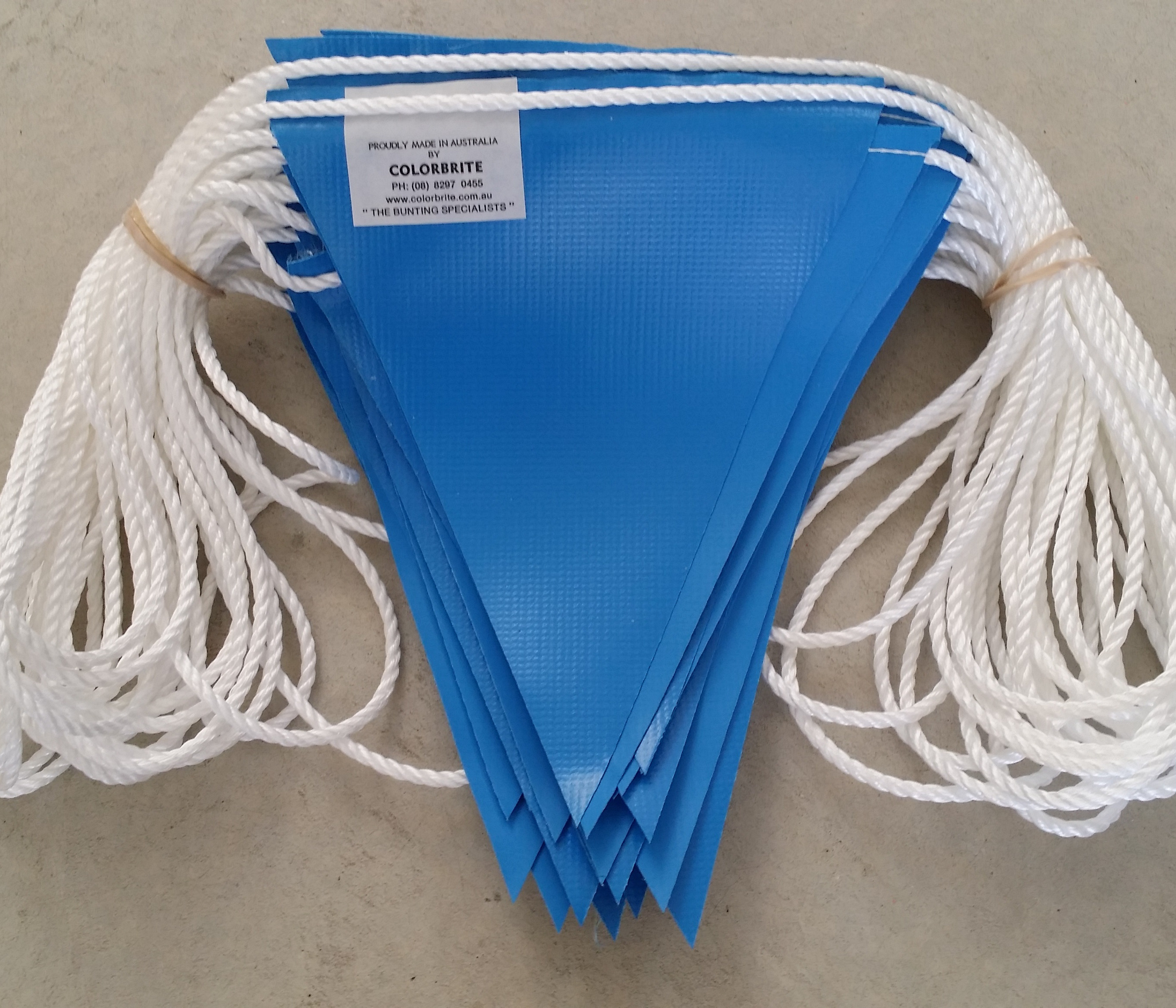 Light Blue Safety Bunting