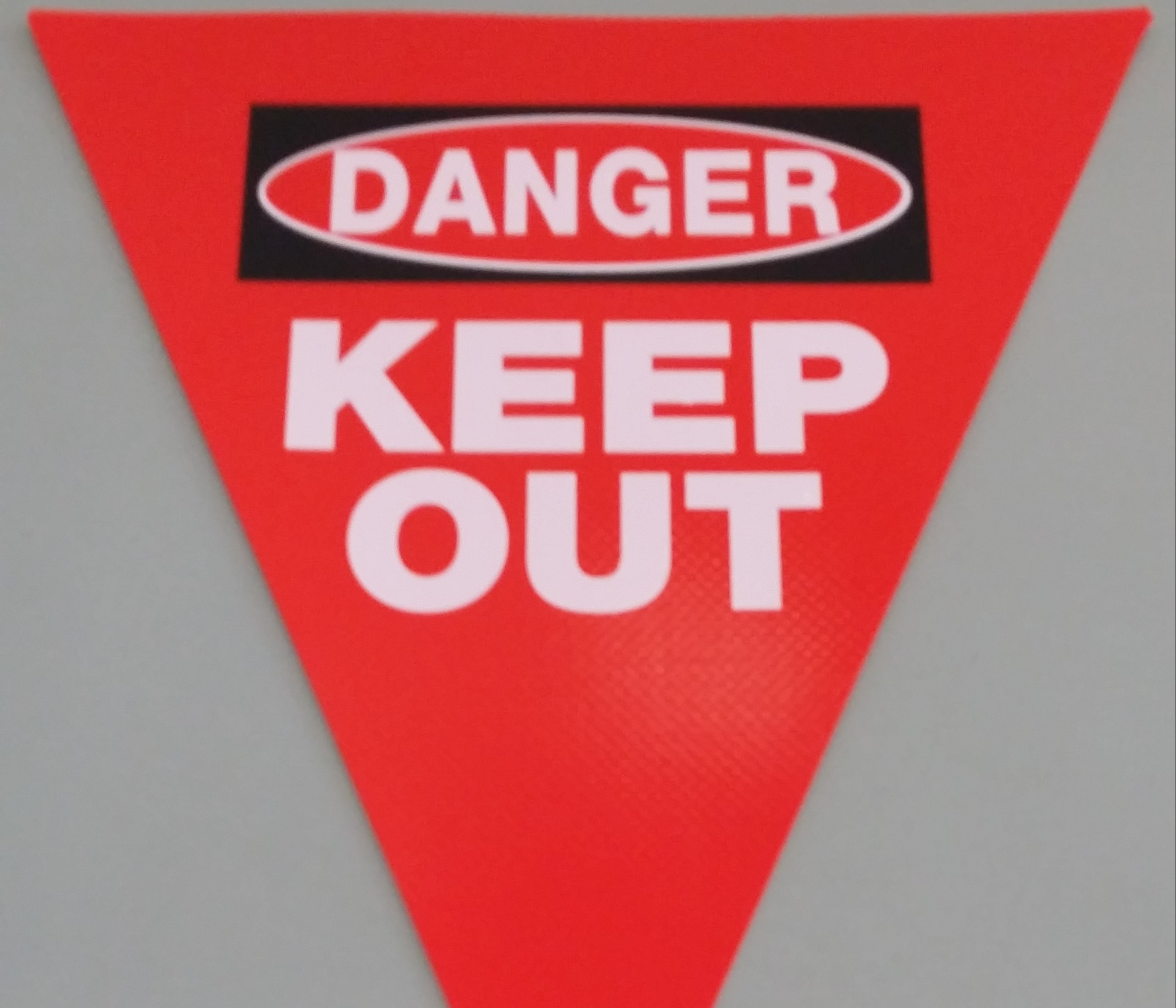 Danger Keep Out (red with 2 col print)