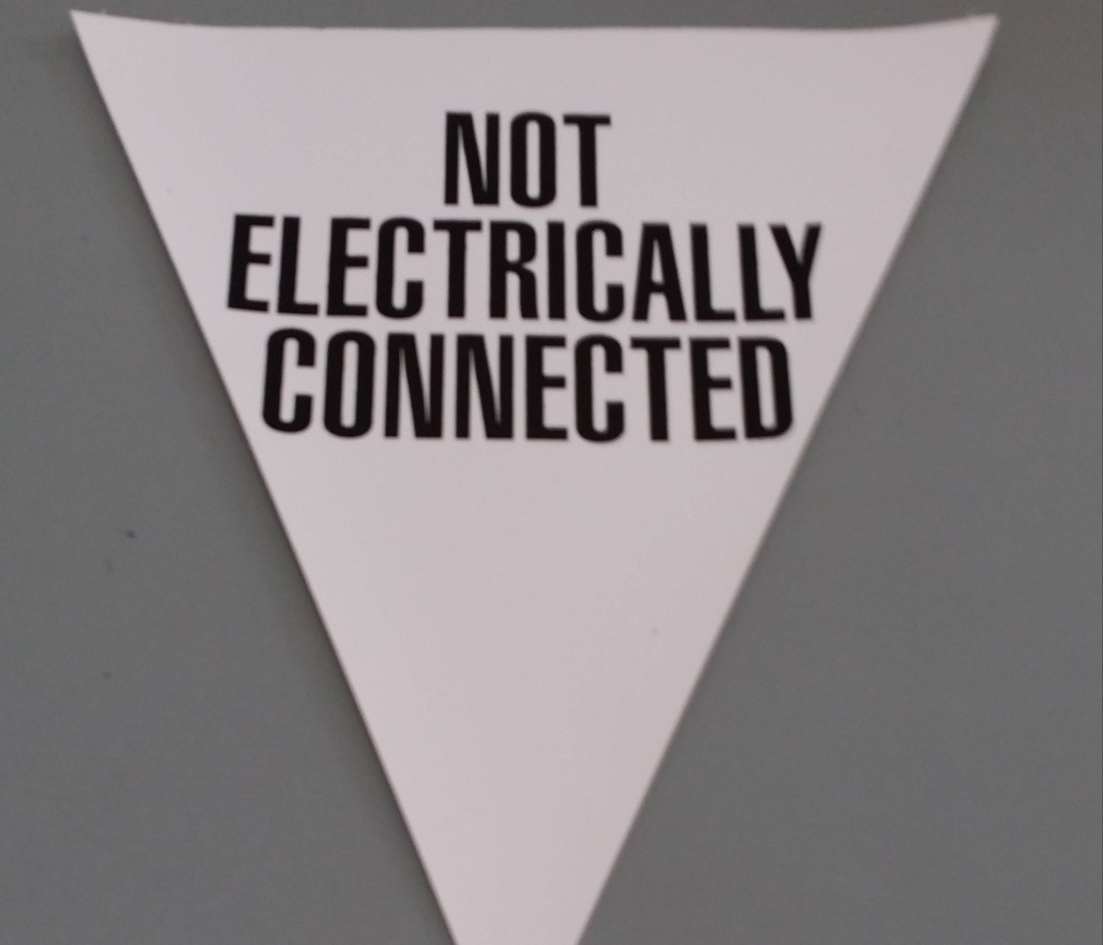 Not Electrically Connected