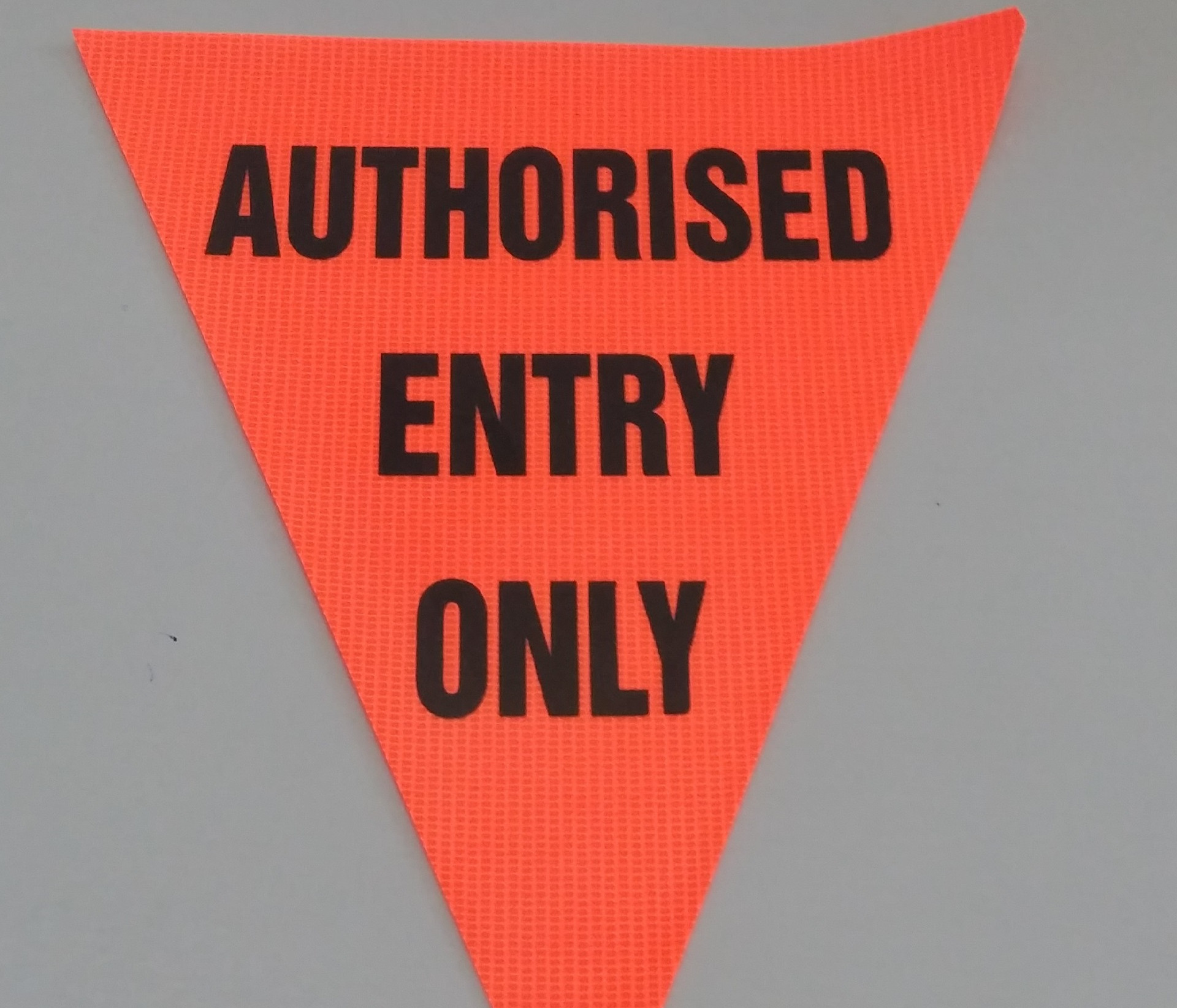 Authorised Entry Only (orange)