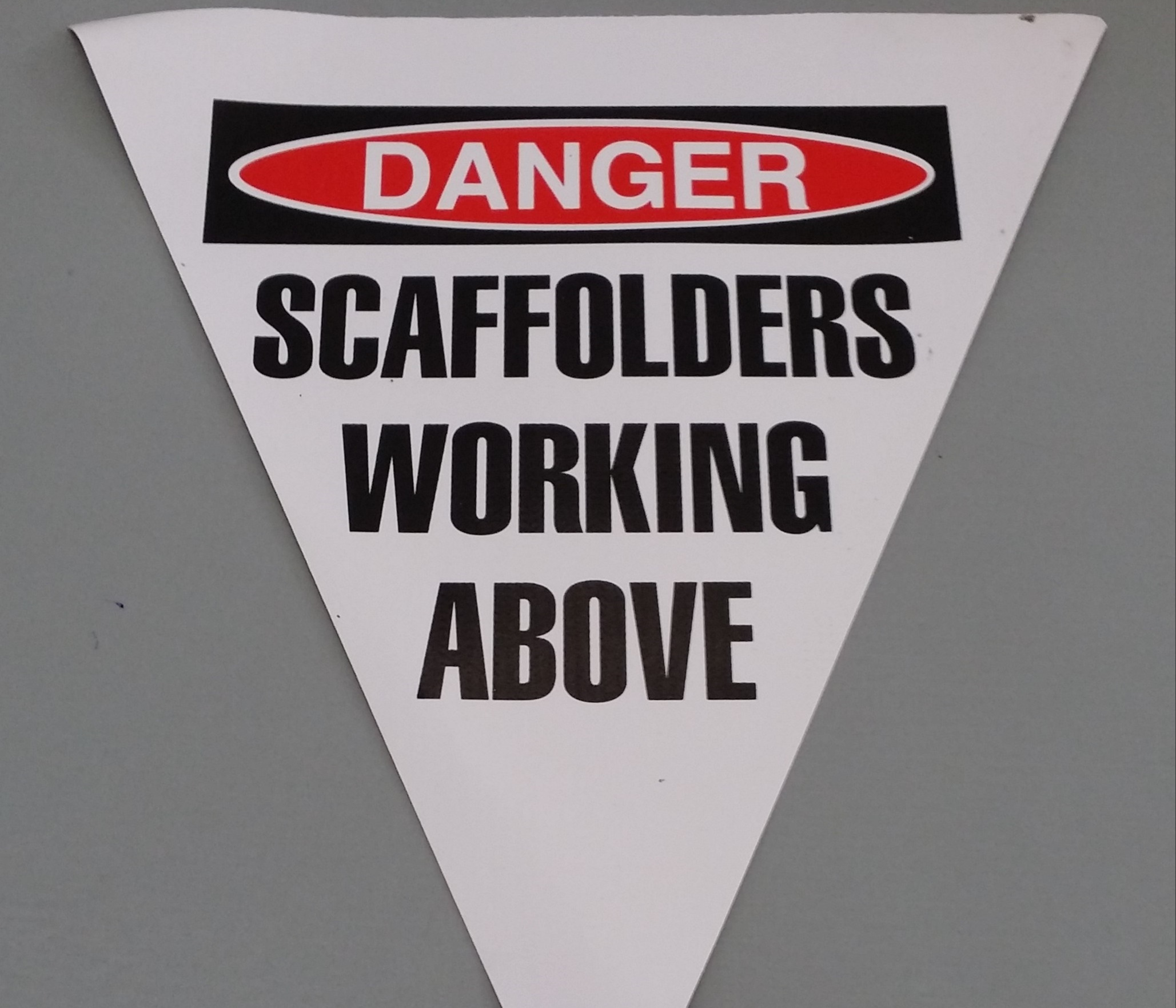 Danger Scaffolders Working Above