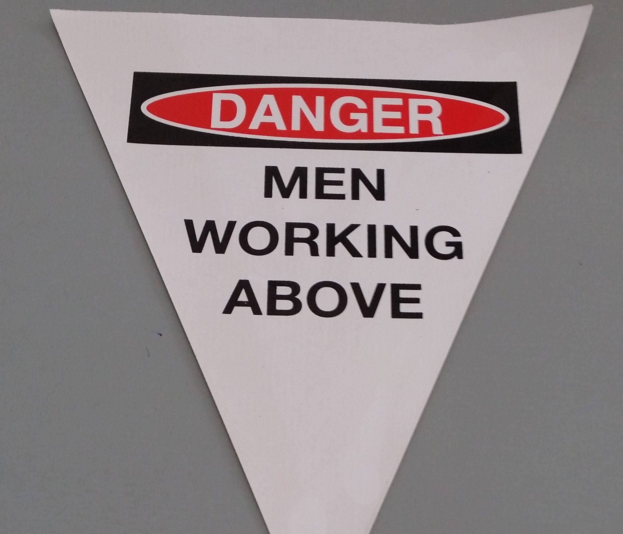 Danger Men Working Above ( white with 2 col print)