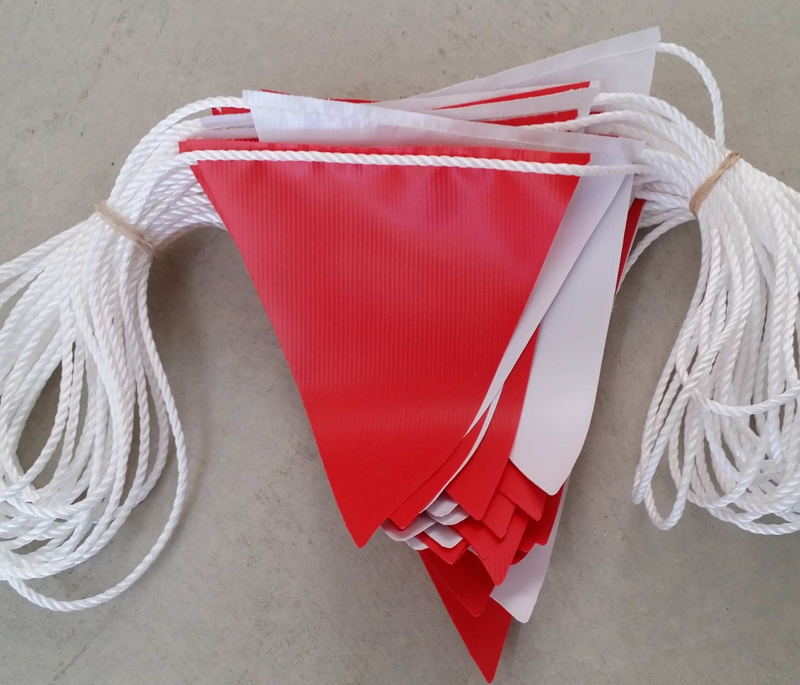 Red and White Alternating Safety Bunting